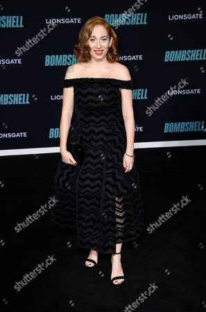 "Regina Spektor attends the premiere of ""Bombshell"" at Regency Village Theatre, in Los Angeles"