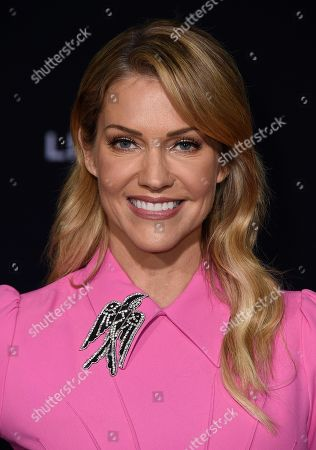 """Tricia Helfer attends the premiere of """"Bombshell"""" at Regency Village Theatre, in Los Angeles"""