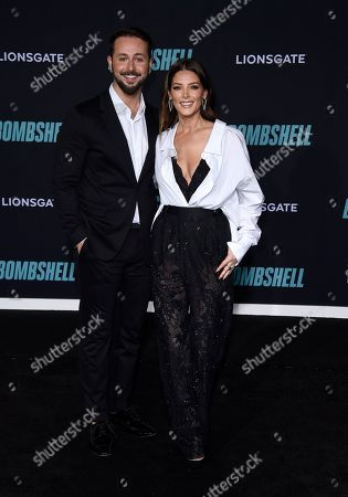 """Paul Khoury, Ashley Greene. Paul Khoury, left, and Ashley Greene attend the premiere of """"Bombshell"""" at Regency Village Theatre, in Los Angeles"""