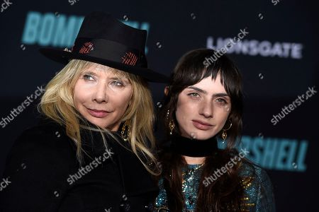 """Rosanna Arquette, Zoe Sidel. Rosanna Arquette, left, and Zoe Sidel attend the premiere of """"Bombshell"""" at Regency Village Theatre, in Los Angeles"""