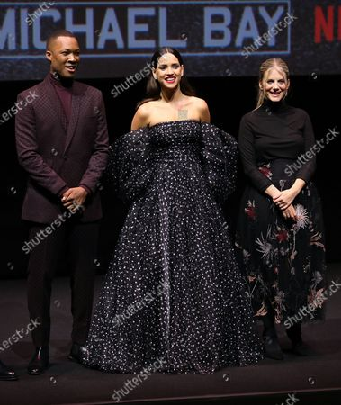 Corey Hawkins, Adria Arjona and Melanie Laurent