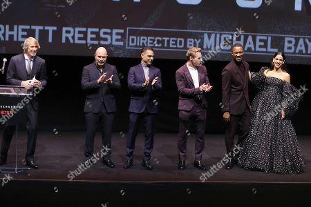 Michael Bay (Director), Lior Raz, Payman Maadi, Ben Hardy, Corey Hawkins, Adria Arjona