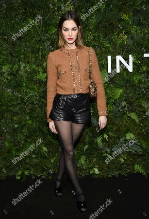 Laura Love attends the Chanel Nº5 In The Snow launch event at The Standard, High Line,, in New York