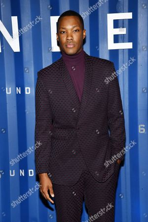 "Stock Image of Corey Hawkins attends the premiere of Netflix's ""6 Underground"" at The Shed at Hudson Yards, in New York"