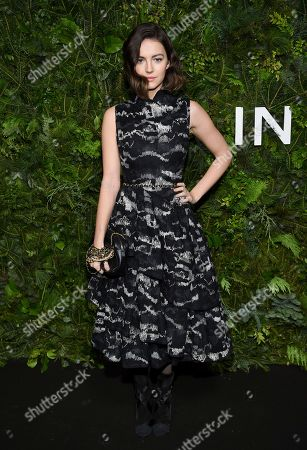 Ella Hunt attends the Chanel Nº5 In The Snow launch event at The Standard, High Line,, in New York
