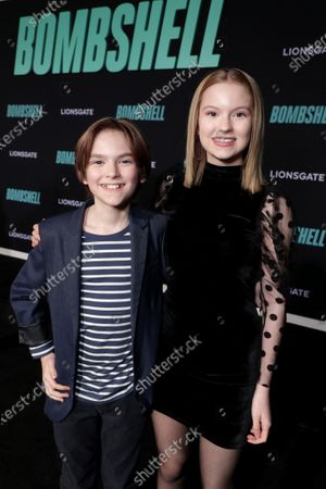 Luke Judy and Savannah Judy attend the Los Angeles Special Screening of Lionsgate's BOMBSHELL at the Regency Village Theatre in Los Angeles, CA on December 10, 2019.