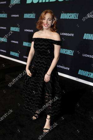 Regina Spektor attends the Los Angeles Special Screening of Lionsgate's BOMBSHELL at the Regency Village Theatre in Los Angeles, CA on December 10, 2019.