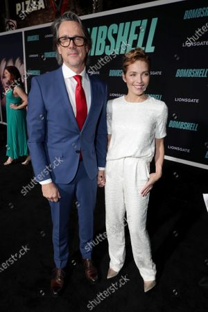 Charles Randolph, Writer/Producer, and Mili Avital attend the Los Angeles Special Screening of Lionsgate's BOMBSHELL at the Regency Village Theatre in Los Angeles, CA on December 10, 2019.