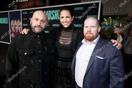 Aaron L. Gilbert, Producer, Ashley Levinson, Executive Producer, and Steven Thibault, Executive Producer, attend the Los Angeles Special Screening of Lionsgate's BOMBSHELL at the Regency Village Theatre in Los Angeles, CA on December 10, 2019.