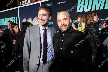 Mark Duplass and Aaron L. Gilbert, Producer, attend the Los Angeles Special Screening of Lionsgate's BOMBSHELL at the Regency Village Theatre in Los Angeles, CA on December 10, 2019.