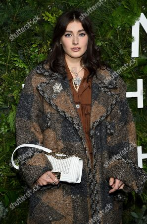 Jessica-Jane Clement attends the Chanel Nº5 In The Snow launch event at The Standard, High Line, in New York