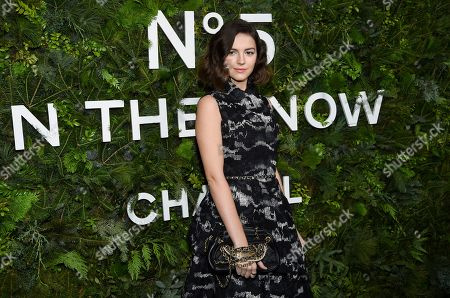 Ella Hunt attends the Chanel Nº5 In The Snow launch event at The Standard, High Line, in New York