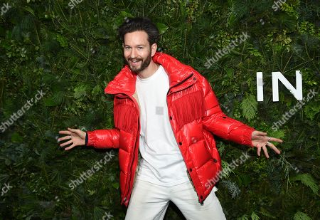 Isaac Hindin-Miller attends the Chanel Nº5 In The Snow launch event at The Standard, High Line, in New York