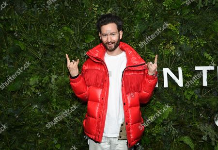 Stock Photo of Isaac Hindin-Miller attends the Chanel Nº5 In The Snow launch event at The Standard, High Line, in New York