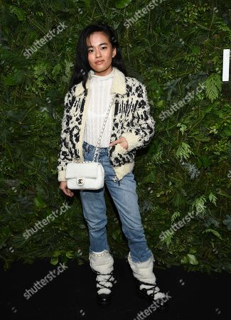 Stock Image of Olivia Lopez attends the Chanel Nº5 In The Snow launch event at The Standard, High Line, in New York