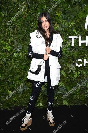 Stock Photo of Anaa Saber attends the Chanel Nº5 In The Snow launch event at The Standard, High Line, in New York