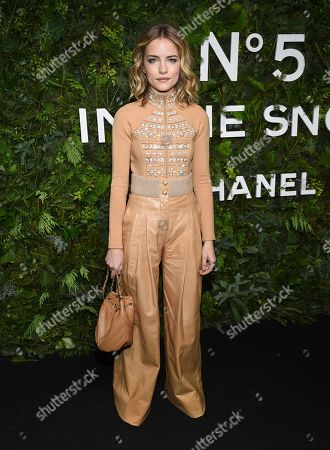Willa Fitzgerald attends the Chanel Nº5 In The Snow launch event at The Standard, High Line, in New York