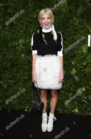 Stock Picture of Sarah Hoover attends the Chanel Nº5 In The Snow launch event at The Standard, High Line, in New York