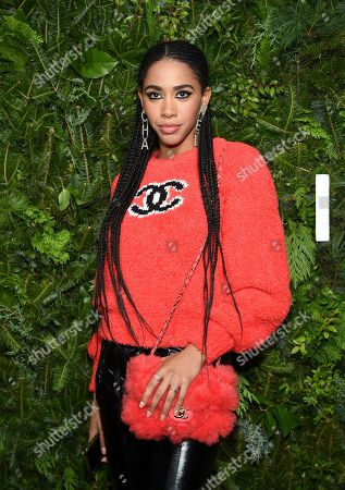 Stock Image of Herizen Guardiola attends the Chanel Nº5 In The Snow launch event at The Standard, High Line, in New York