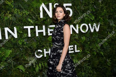 Ella Hunt attends the Chanel No5 In The Snow launch event at The Standard, High Line, in New York
