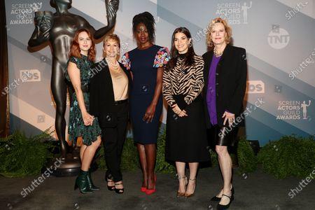 Stock Picture of Elizabeth McLaughlin, Gabrielle Carteris, Danai Gurira, America Ferrera and JoBeth Williams