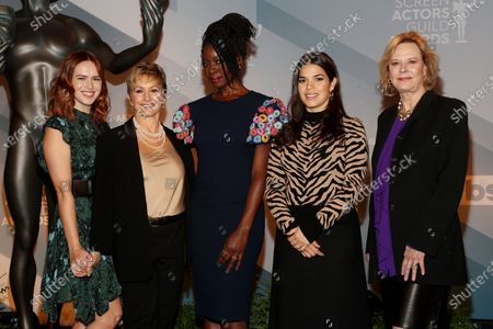 Elizabeth McLaughlin, Gabrielle Carteris, Danai Gurira, America Ferrera and JoBeth Williams