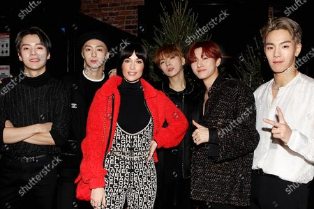 Stock Image of MONSTA X with Kacey Musgraves