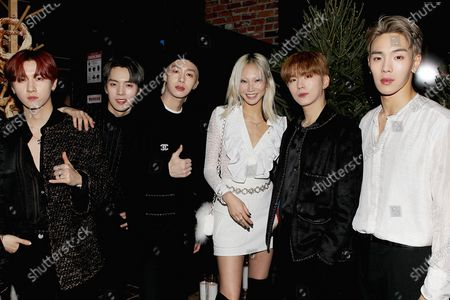 Stock Picture of MONSTA X with Soo Joo Park