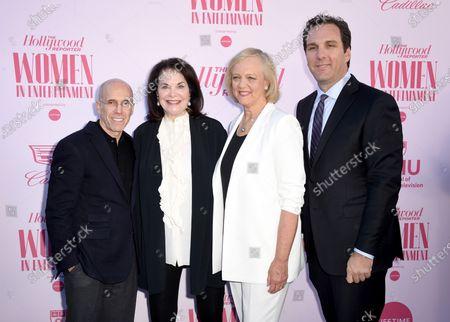 Jeffrey Katzenberg, Sherry Lansing, Meg Whitman, and Matthew Belloni