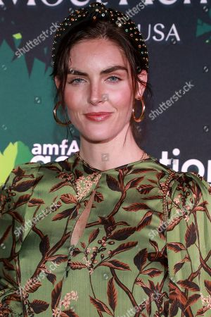 Hilary Rhoda attends the amfAR GenerationCURE's 5th annual holiday party benefit at Gitano Jungle Room, in New York