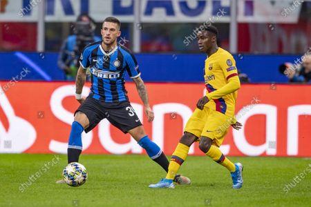 Moussa Wague (FC Barcelona) Danilo D Ambrosio (Inter)