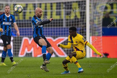 Moussa Wague (FC Barcelona) Borja Valero Iglesias (Inter)