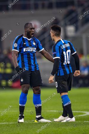 Romelu Lukaku (Inter) Lautaro Martinez (Inter) celebrates after scoring his team's first goal