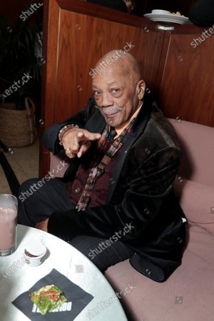 Stock Photo of Quincy Jones attends the Los Angeles Special Screening of Lionsgate's BOMBSHELL at the Regency Village Theatre in Los Angeles, CA on December 10, 2019.
