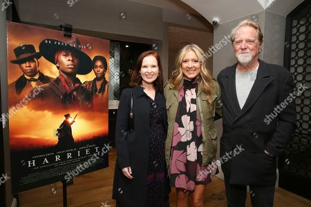 """Jennifer Todd, Daniela Taplin, Jon Taplin. Jennifer Todd, producer Daniela Taplin and Jon Taplin seen at the Focus Features """"Harriet"""" Special Screening at the London Hotel on in Los Angeles"""