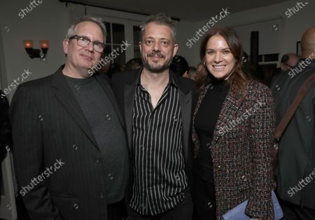 Amazon Studios Co-Head of Movies Ted Hope, Director Benedict Andrews and Amazon Studios Co-Head of Movies Julia Rappaport attend Amazon Studios Seberg Special Screening Presented by Audi