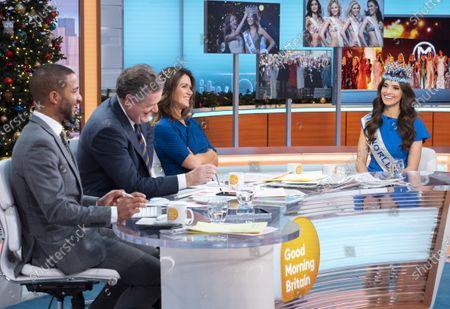 Sean Fletcher, Piers Morgan and Susanna Reid with Vanessa Ponce de Leon