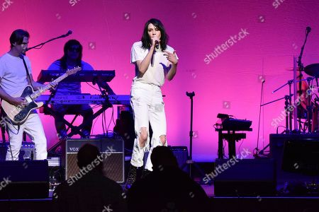 """Stock Image of K-Flay performs during the 9th annual """"Home for the Holidays"""" benefit concert at The Novo, in Los Angeles"""