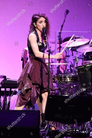 "Emily Estefan performs during the 9th annual ""Home for the Holidays"" benefit concert at The Novo, in Los Angeles"