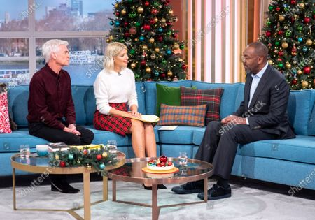 Phillip Schofield and Holly Willoughby with Lenny Henry