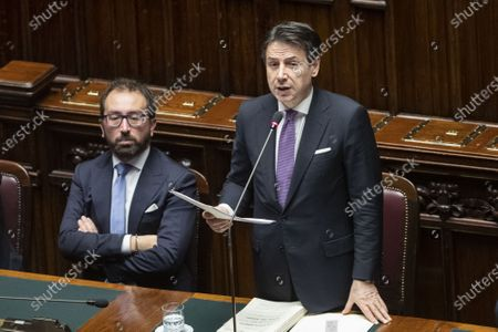 Italian Minister of Justice Alfonso Bonafede Giuseppe Conte