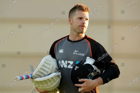 Lockie Ferguson attends a New Zealand cricket team training session at Perth Stadium in Perth, Australia, 11 December 2019. Australia and New Zealand cricket teams are scheduled to play a test match from 12 December to 16 December 2019.