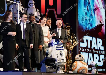 Editorial picture of US film director J. J. Abrams, actress and actors promote new film 'Star Wars: The Rise of Skywalker ', Tokyo, Japan - 23 Nov 2019
