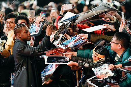 John Boyega signs autographs at an event promoting Star Wars: The Rise of Skywalker' in Tokyo, Japan, 11 December 2019. The film will be released in Japan on 20 December 2019.