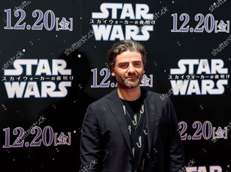 Oscar Isaac poses at an event promoting Star Wars: The Rise of Skywalker' in Tokyo, Japan, 11 December 2019. The film will be released in Japan on 20 December 2019.