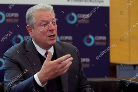 Former US Vice President Al Gore speaks during an interview granted by Agencia Efe in the framework of COP25 UN Climate Change Conference in Madrid, Spain, 11 December 2019. Gore said USA still have possibilities to remain in the Paris Agreement to combat climate change despite the words of the United States President, Donald Trump. The summit runs in Spanish capital until 13 December.