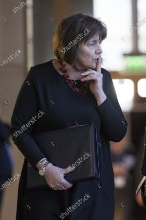 Scottish Parliament First Minister's Questions -  Jeane Freeman, Cabinet Secretary for Health and Sport, makes her way to the Debating Chamber.