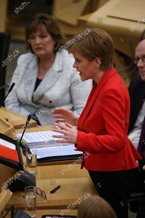 Scottish Parliament First Minister's Questions - Fiona Hyslop, Cabinet Secretary for Culture, Tourism and External Affairs, and Nicola Sturgeon, First Minister of Scotland and Leader of the Scottish National Party (SNP)