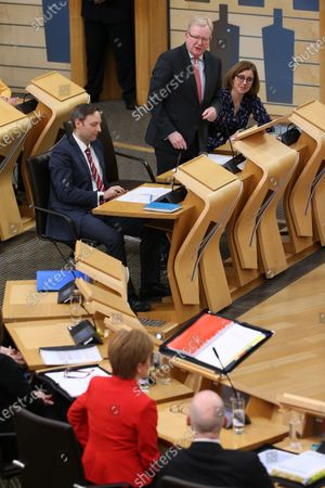Scottish Parliament First Minister's Questions - Liam Kerr, Jackson Carlaw, Interim Leader of the Scottish Conservative and Unionist Party, Rachel Hamilton and Nicola Sturgeon, First Minister of Scotland and Leader of the Scottish National Party (SNP)