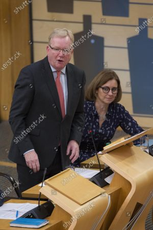 Scottish Parliament First Minister's Questions - Jackson Carlaw, Interim Leader of the Scottish Conservative and Unionist Party, and Rachel Hamilton